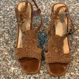 Frye braided leather sandals